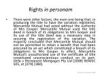 rights in personam14