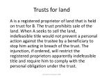 trusts for land