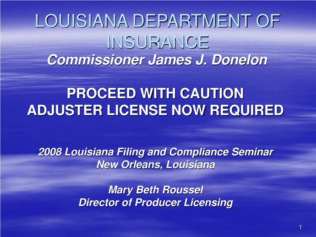 louisiana department of insurance l.