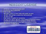 resident license