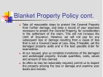 blanket property policy cont