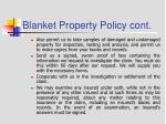 blanket property policy cont8
