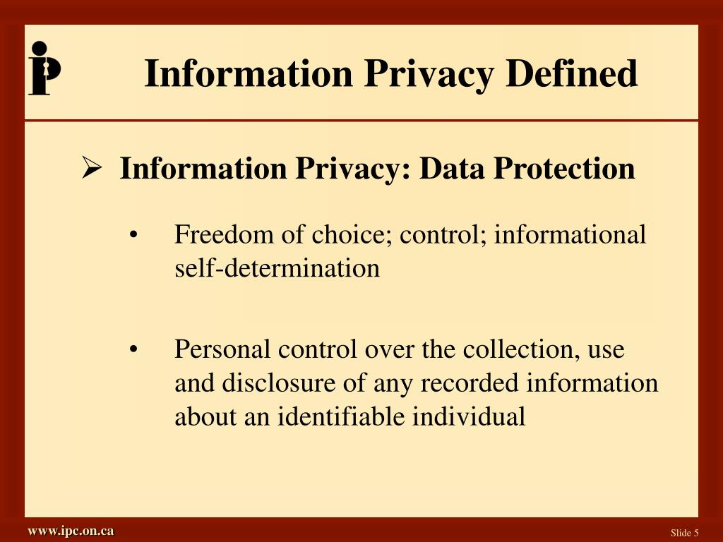 Information Privacy Defined