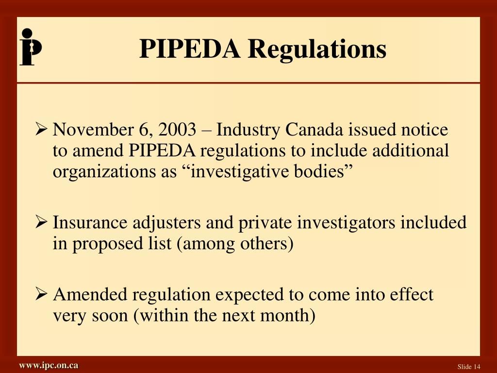 PIPEDA Regulations