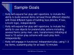 sample goals26