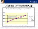 cognitive development gap