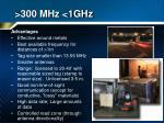 300 mhz 1ghz