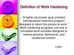 definition of work hardening