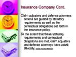 insurance company cont