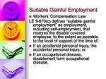 suitable gainful employment