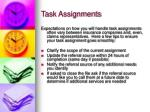 task assignments