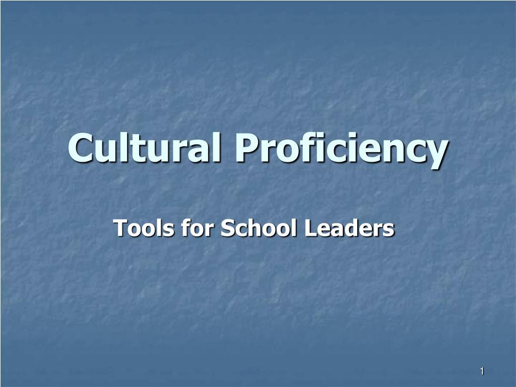 cultural proficiency l.