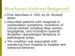 munchausen syndrome background