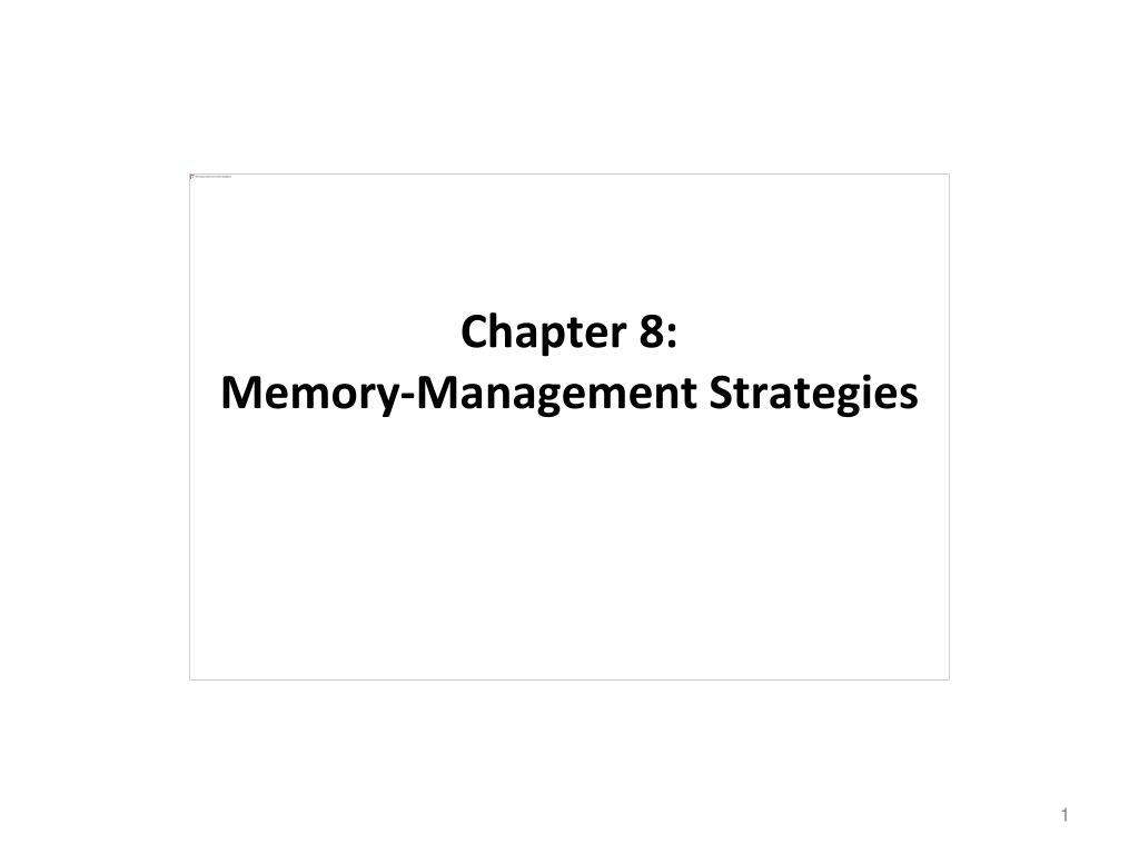chapter 8 memory management strategies l.