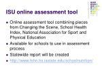 isu online assessment tool