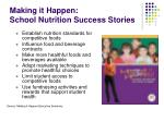 making it happen school nutrition success stories