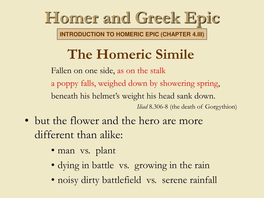The Homeric Simile