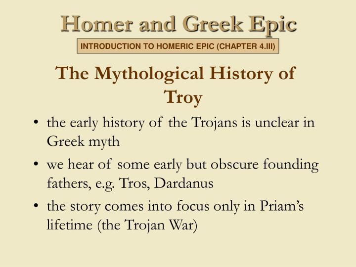Homer and greek epic2