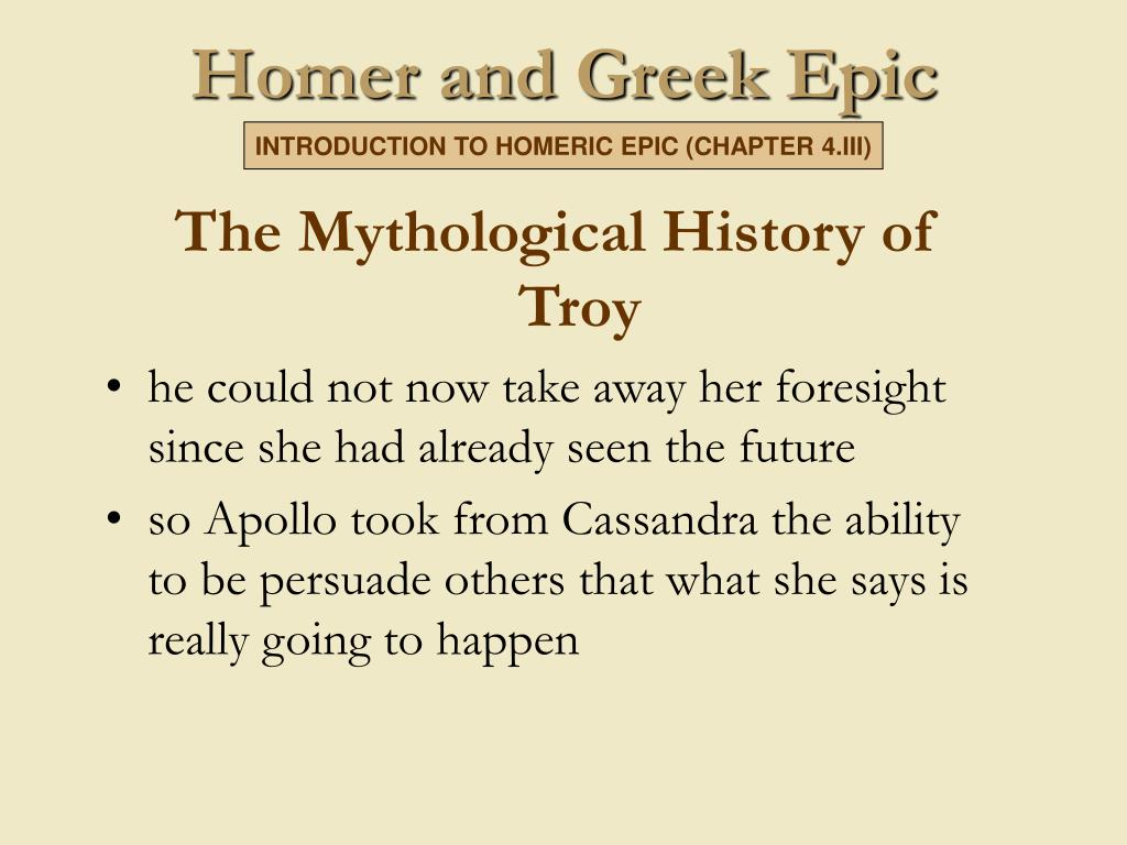 The Mythological History of Troy