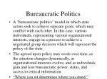 bureaucratic politics