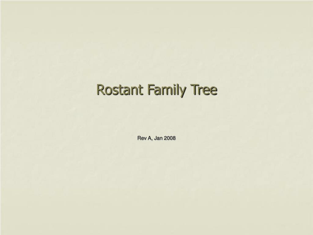 rostant family tree l.
