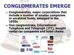 conglomerates emerge
