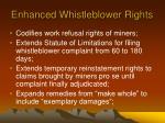 enhanced whistleblower rights
