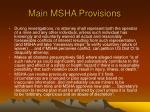 main msha provisions5