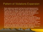 pattern of violations expansion