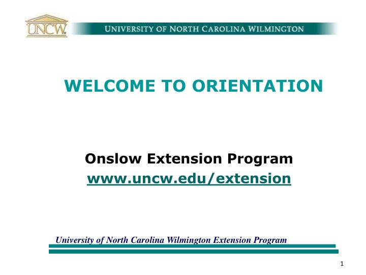 welcome to orientation n.
