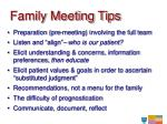 family meeting tips