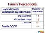 family perceptions