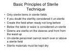 basic principles of sterile technique