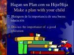 hagan un plan con su hijo hija make a plan with your child10