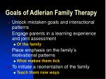 goals of adlerian family therapy