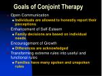 goals of conjoint therapy