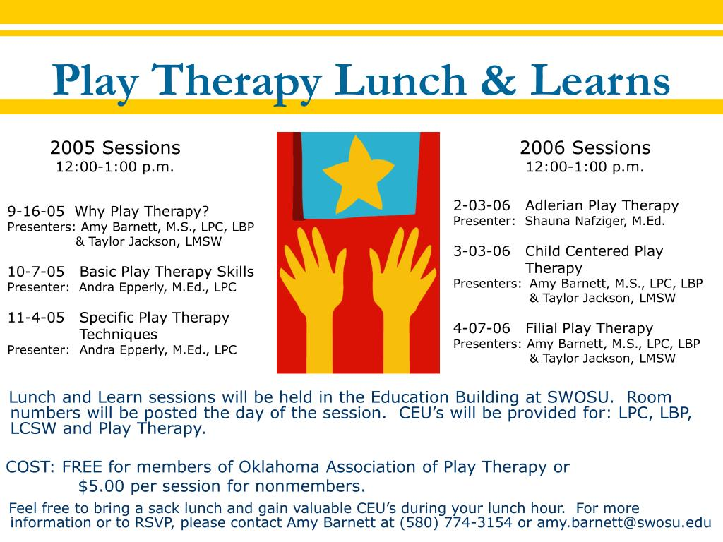 play therapy lunch learns l.