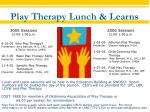 play therapy lunch learns