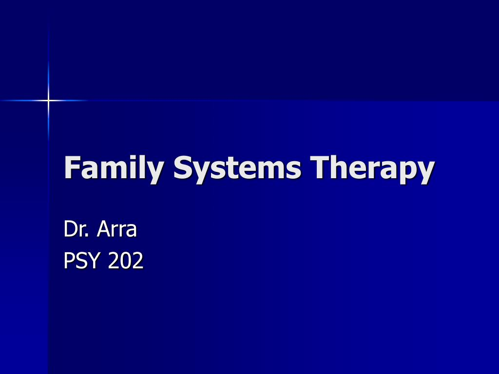 family systems therapy l.