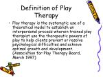 definition of play therapy