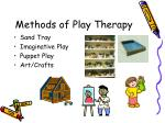 methods of play therapy