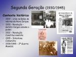 segunda gera o 1930 1945
