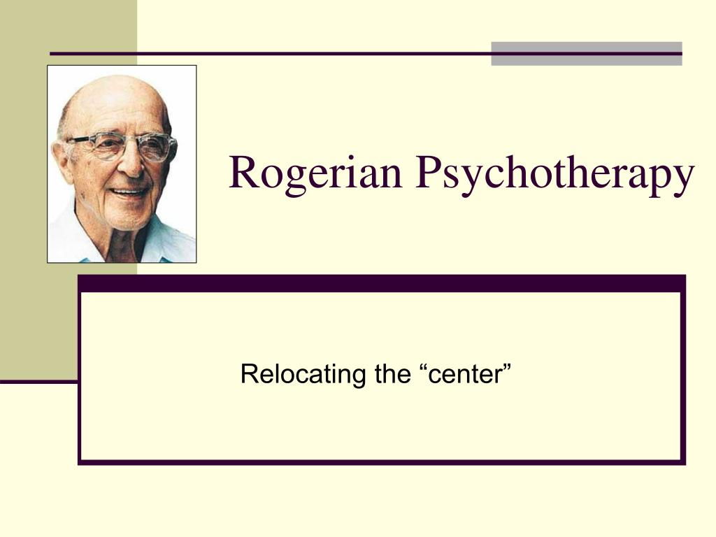 rogerian psychotherapy l.