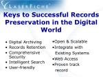keys to successful records preservation in the digital world