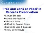 pros and cons of paper in records preservation