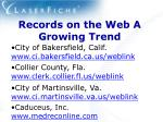 records on the web a growing trend