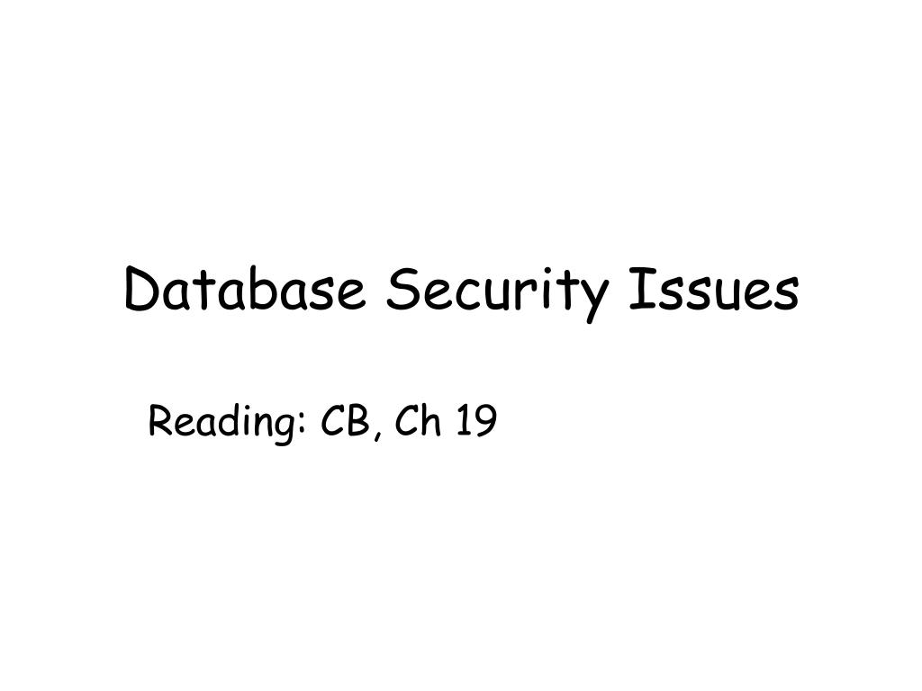 database security issues l.