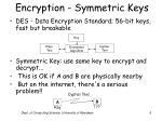 encryption symmetric keys