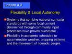 flexibility local autonomy21