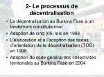 2 le processus de d centralisation